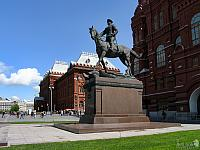 The Monument to Marshal Zhukov on Manezhnaya Square