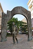 Monument to Bulat Okudzhava on Old Arbat