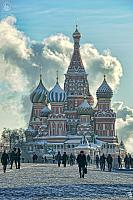 Winter Walk Along the Red Square
