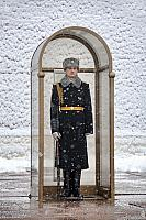 Honor Guard at the Tomb of Unknown Soldier in Heavy Snowfall