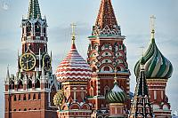 Kremlin Chimes & Onion Domes of St. Basil's in Winter