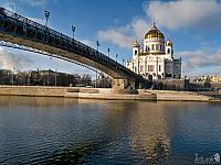 Ensemble of Cathedral of Christ the Savior In December Thaw