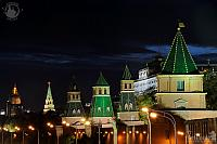 Moscow Kremlin Towers at Night