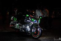 Awesome Honda Motorcycle with colorful LED lights at Sparrow Hills