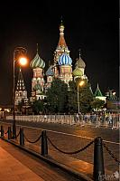 Walking to St. Basil's Cathedral at Night