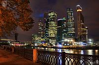 Moskva-City from Tarasa Shevchenko Embankment at Night