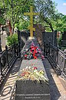 Grave of Nikolai Gogol (1809-1852) in Spring