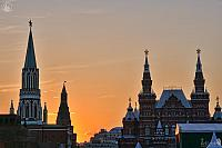 Towers on Red Square at Sunset