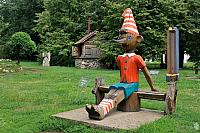 Wooden sculpture of Buratino (Pinocchio)