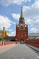 Walking to the main visitors' entrance into the Kremlin