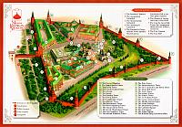 The Key Map of Moscow Kremlin