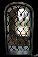 The View through a Narrow Window with Curved Grid