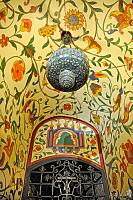 Festive Floral Ornaments of Vaulting and Chandelier
