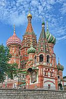 St. Basil's Cathedral with Bell Tower Under Blue Sky