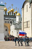 Honor Guard Marching with Kremlin Step on Cathedral Square