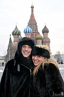 Beeing Happy to Come Back Again to Red Square - Johnny and Tara