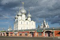 A Flock of Ravens Flying Over the Holy Rus