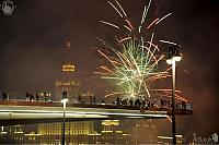 Fireworks Over New Floating Bridge of Park Zaryadye