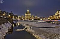 Melted Ice on Moskva River - Moskvoretskaya Embankment