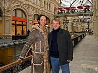 With Johnny Weir in GUM