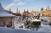 Walking in Red Square During the Winter Holidays 2009-2010