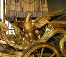 Carved and Gilt Wooden Eagle