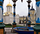 Conopy Arches Over The Cross - Holy Trinity St. Sergius Lavra