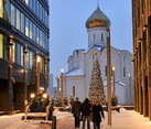Early Morning under the Snow - Business Center at Belorusskaya