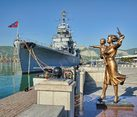 Monument to the Sailor`s Wife and Warship Admiral Kutuzov
