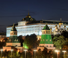 The Grand Kremlin Palace at Twilight