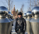 Between Stainless Steel Figures in Park Zaryadye