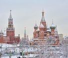 Main Moscow Attractions in Heavy Snowfall