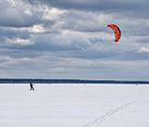 Snow Kiting on Pleshcheyevo Lake