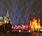 Beams of Light over the Red Square