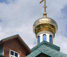 Golden Dome of Vladimirskaya Church in Borodino (Mytishchi)