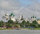 Podozerka Pier and Domes of Rostov Kremlin