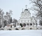 Transfiguration church in Bolshie Vyazemy in Christmastide