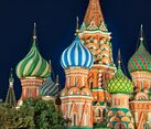 St. Basil's Domes in the Summer Dusk