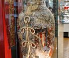 Chinese 1.5 meter Vase of XIX Century in the Perlov Tea House