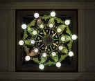 Under the Large Chandelier of Kazansky Station Main Tower