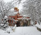 Church of the Icon of the Mother of God in Gorny after Snowfall