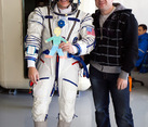 With Astronaut Doug Hurley and Flat Stanley