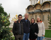 In front of Churches of Moscow Kremlin