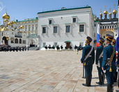 Military Parade in Moscow Kremlin on the Children's Day
