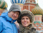 Portrait In Front of Charming Domes of St. Basil's