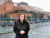 With Lenin's Mausoleum