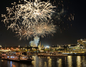 871st Birthday of Moscow Celebrated with Spectacular Fireworks