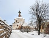 The fairy-tale town of Suzdal in winter